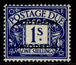 SOUTHERN RHODESIA GVI SG D7, 1s deep blue, LH MINT.