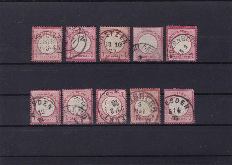 german empire 1872 used good postmark stamps cat £100+ ref r13972