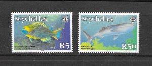 FISH - SEYCHELLES #841a,842a (dated 2010)  MNH
