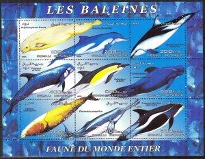 Somali 2003 Whales Sheet of 6 MNH Cinderella !