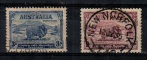 Australia Scott 153-4 Used (Catalog Value $70.00)
