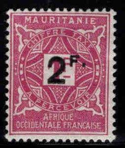 Mauritania Scott J17 MH* postage due