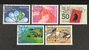 Switzerland 1988 #817-21, Used, CV $3.05