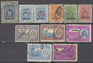 COLLECTION LOT OF # 1706 INDIA STATES BHOPAL 11 STAMPS 1908+