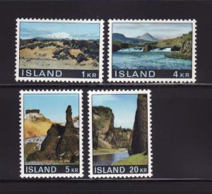 Iceland 412-415 Set MH Scenes (A)