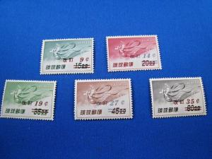 RYUKYU ISLANDS - SCOTT #C14-C18   -  MNH           (alb42)