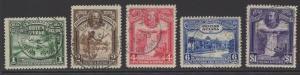 BRITISH GUIANA SG283/7 1931 CENTENARY OF COUNTY UNION FINE USED