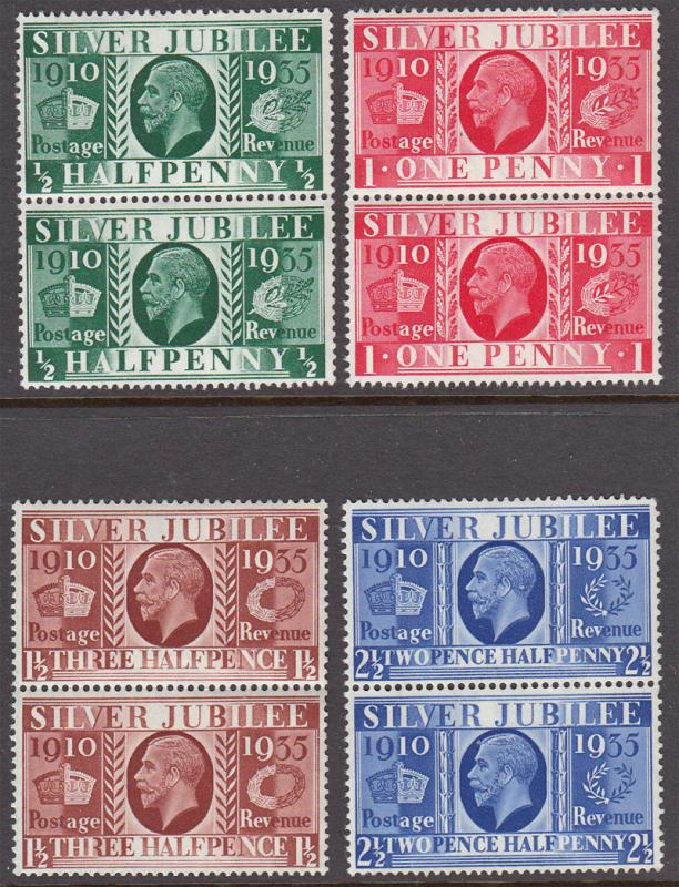 GB GV 1935 Jubilee Blocks x 2 SG453-6 Mint Never Hinged MNH UMM
