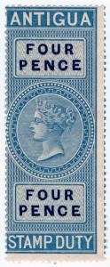 (I.B) Antigua Revenue : Duty Stamp 4d (1870)