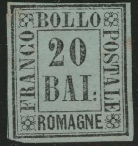 Romagna Scott 9 Mint No Gum MNG 1859