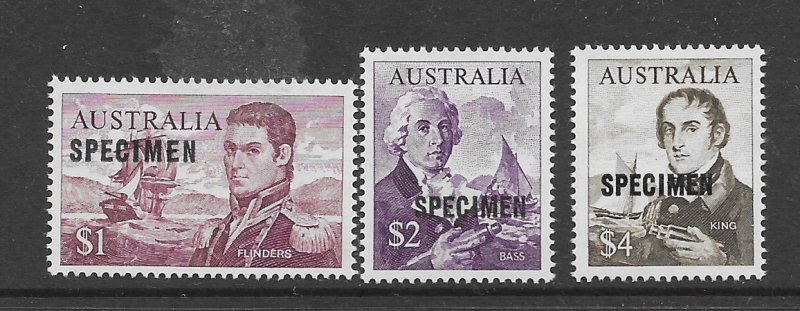 Australia 377-79  1965  3 values OP  specimen VF   NH