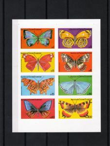 Equatorial Guinea 1979 Butterflies Sheet (8) Imperforated mnh.vf