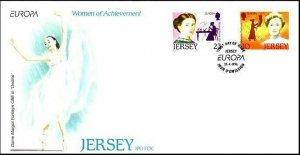 Jersey 748-749 FDC.Michel 735-736. EUROPE CEPT-1996.Women of Achievement.