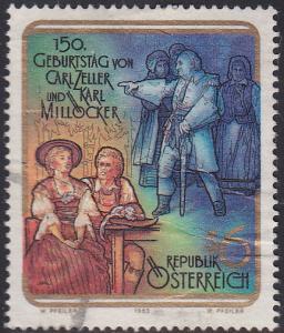 Austria 1567 Hinged Used 1992 Carl Zeller & K. Millocker, Composers
