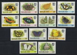 Swaziland Butterflies 13v issue 1987 SG#516-528 MI#515-527