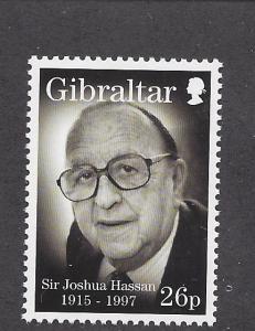 Gibraltar, 745, Sir Joshua Hassan Single,**MNH**