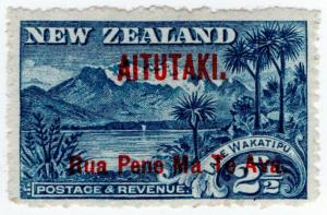(I.B) New Zealand Postal : Aitutaki 2½d OP