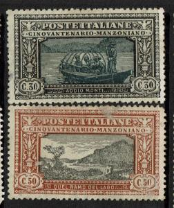 Italy SC# 167 and 168, Mint Hinged, Hinge Remnant, see notes - S4232