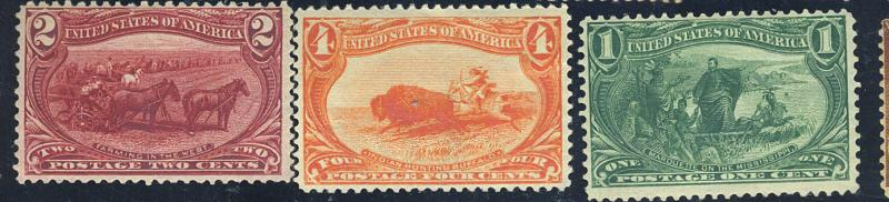 285-7 MINT F-VF OG LH Cat$160
