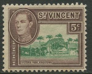 St Vincent - Scott 160 - KGV Definitive -1949 - MNG - Single 5c Stamp