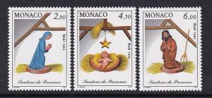 Monaco  #1919-1921    MNH  1994  Christmas