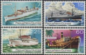 Papua New Guinea 1976 SG297-300 Ships set MNH
