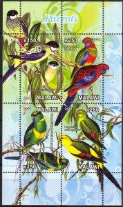 Malawi 2011 Birds (9) Parrots MNH Cinderella !