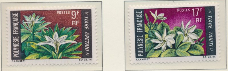 French Polynesia Stamp Scott #245 To 246, Mint Never Hinged - Free U.S. Shipp...
