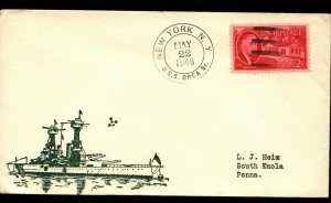 USS ORCA AVP-49 SEAPLANE TENDER 1946 CACHET NAVAL COVER WITH 2c STAMP