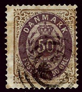 Denmark SC #51 Used  Fine SC$20.00   ..Scandinavian sweet spot!!