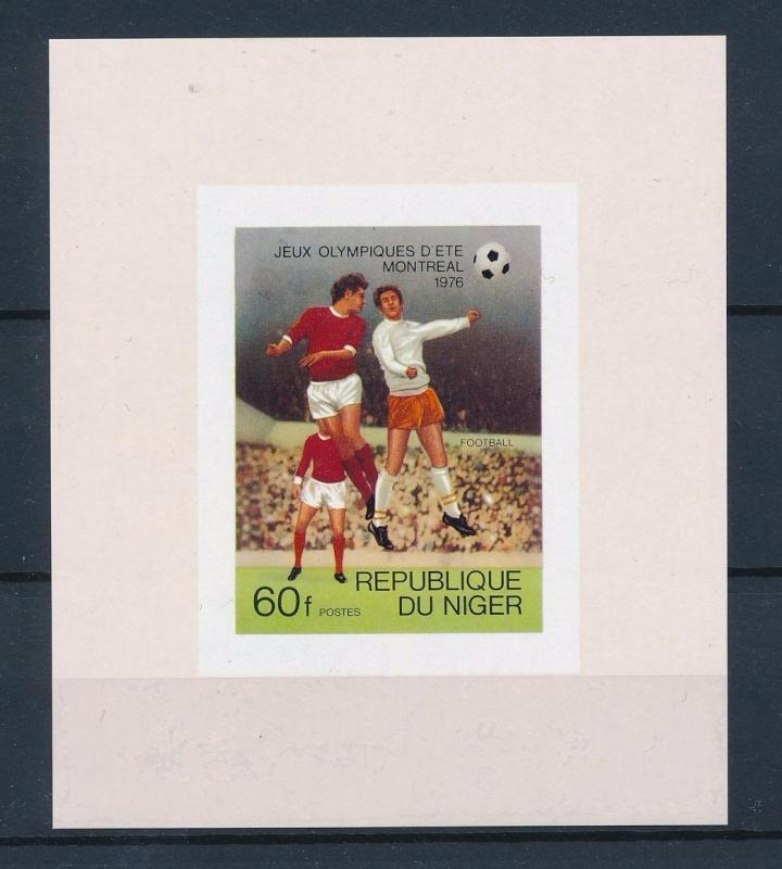 [55736] Niger 1976 Olympic games Montreal Football Soccer MNH Sheet