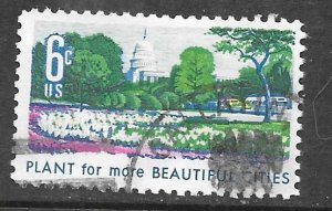 USA 1365: 6c Plant For More Beautiful Cities, used, VF