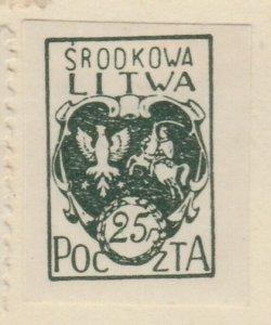 Central Lithuania Mittellitauen Lituanie Lituania 1921 25f MH* A8P11F132