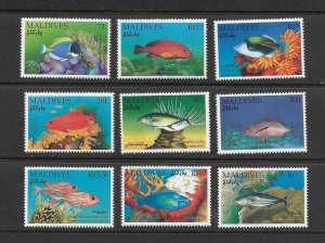 FISH - MALDIVES #1656-65  MNH
