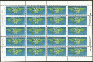 Canada - 1999 Universal Postal Union Imprint Sheet #1806