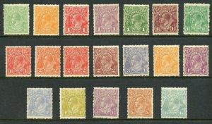 AUSTRALIA  SCOTT #19/37 MINT HINGED--SCOTT $460.50