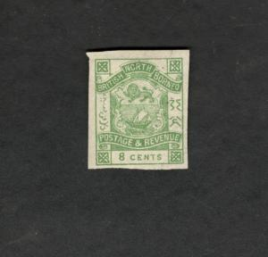 British North Borneo SCOTT #42 Imperf COAT OF ARMS  8c MH stamp