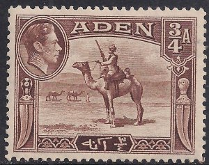 Aden 1939 - 48 KGV1 3/4 Annas Red Brown Camel Corps MM SG 17 ( L1261 )