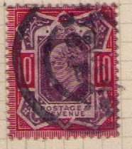 Great Britain Sc #137 (1902) Used H F-VF, CV $70.00