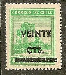 Chile  Scott  253   Surcharge   MNH