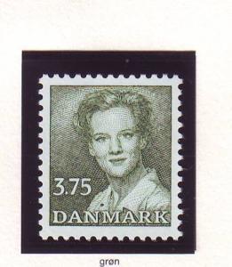 Denmark Sc 889 1990 3.75kr dark green Queen stamp mint NH