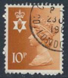 Great Britain Northern Ireland SG NI28 SC# NIMH13  Machin 10p Used  see scan