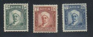 Aden-Quaiti State of Shihr & Mukalla - 1942 - SC 1-3 - LH