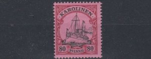 CAROLINE ISLAND 1901   S G 21    80PF  BLACK & CARMINE   MNH