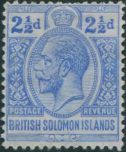 Solomon Islands 1914 SG27 2½d ultramarine KGV MLH