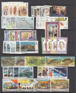 Pitcairn Islands Mint NH modern sets (Catalog Value $133.50) - [2R0469]