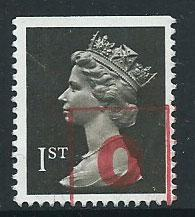 GB Machin  QE II  SG 1447   Booklet Top imperf FU