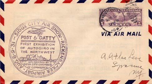 United States, Airmail, Event, Iowa