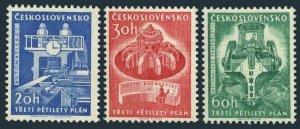 Czechoslovakia 1020-1022 two sets,MNH. Mi 1241-43. 5-Year plan,1960.Rolling mill