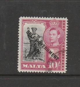 Malta 1948 Self Govt, 10/- FU SG 248